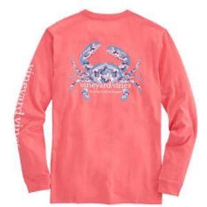 VINEYARD VINES Mens Long-Sleeve Camo Crab T-Shirt